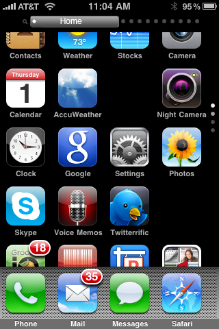Springboard scrollable Home Page in mid-scroll